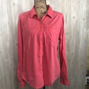 Maurice's RTV Distressed Button Down Shirt # 15
